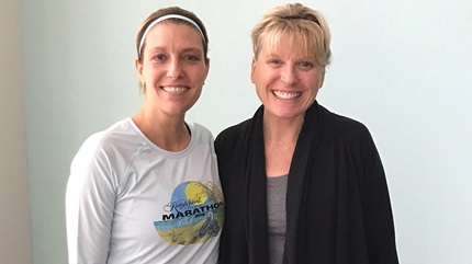Karen Ciolek (left) donated a portion of her healthy liver to help her friend, Mindy Craft.