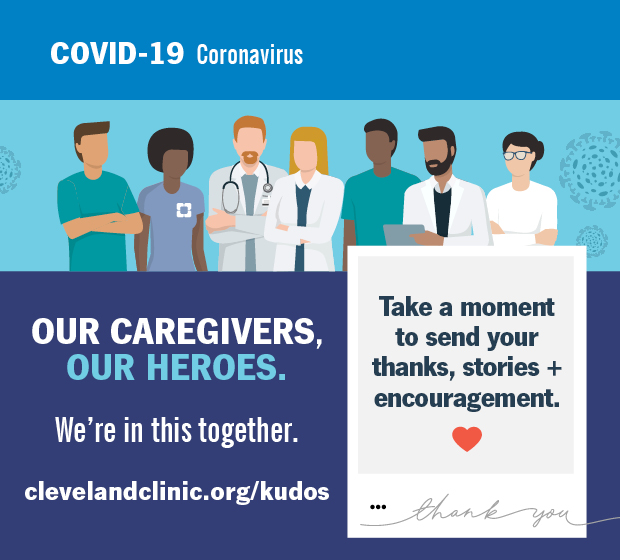 Take a moment to thank a Cleveland Clinic caregiver