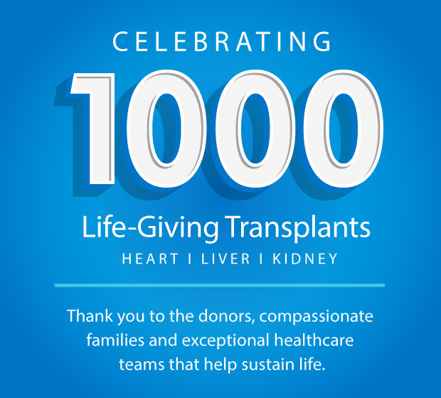 Cleveland Clinic Florida Celebrates 1000 Life-Giving Transplants