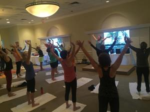 Morning yoga at Cleveland Clinic Wellness Retreat