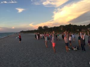 Sunset Tai Chi on the Beach at Cleveland Clinic Wellness Retreat